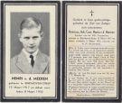 Meeren Henricus Adr Corn Maria v d  1932