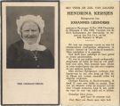 Kersjes Hendrina x Leenders Johannes 1940