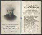 Rombouts Maria x Kriesels 1932